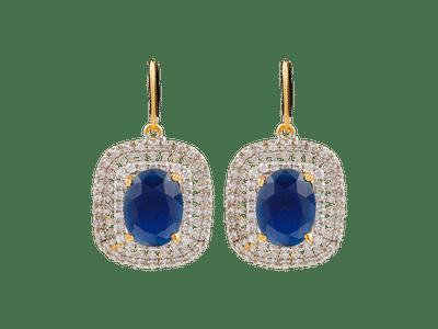 Blue sapphire diamond Earings