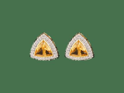 Citrine Triangle Diamond Tops