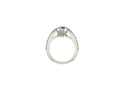 Crowned engagement ring