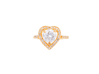 Heart Shaped Solitare Ring