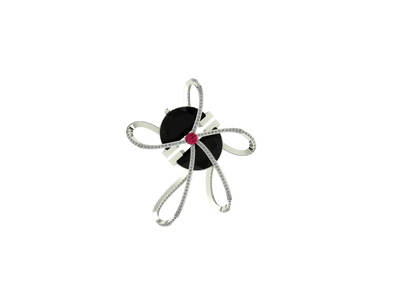 Onyx Butterfly pendant