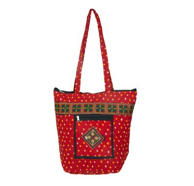 Bandhej short hand bag