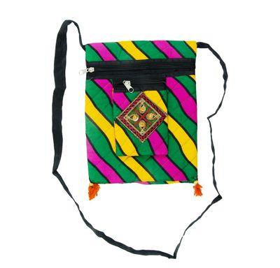 Lahriya print sling bag