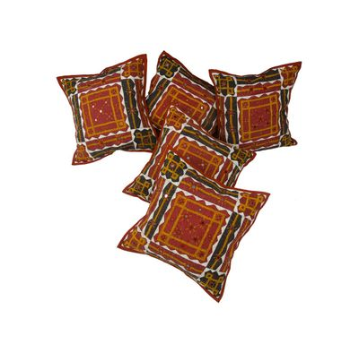 Banzaara kaanch cushion cover