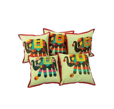 Royal elephant cushion cover