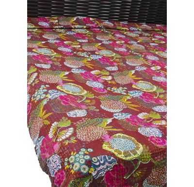 Fruit quilt double bed cover