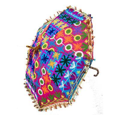 Umbrella wool embroidery