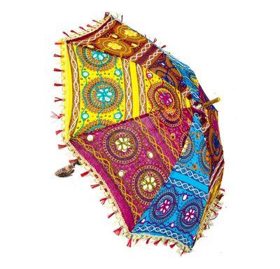 Umbrella with patra embroidery