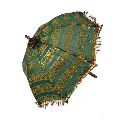 Umbrella with Zari embroidery
