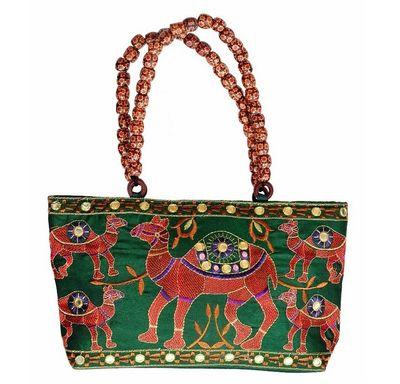 Pearl Palki bag with camel design
