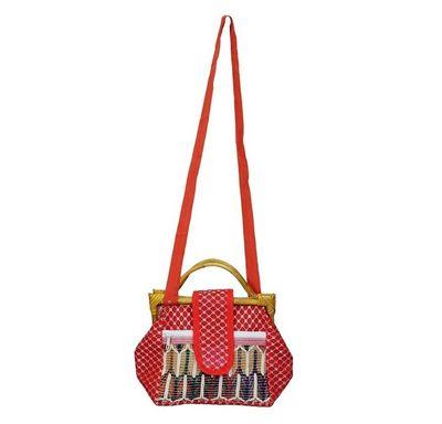 Joot bag with wooden handle