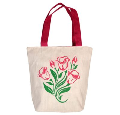 Juco flower pink and cream bag