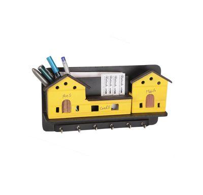 Key holder house shape wooden