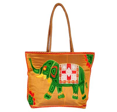 Hand bag elephant embroidery