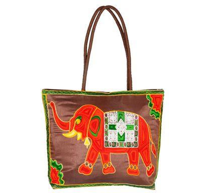 Hand bag elephant embroidery