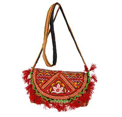 Sling bag kutch embroidery