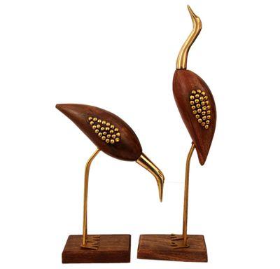 Wooden swan set