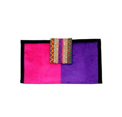 Velvet clutch wallet