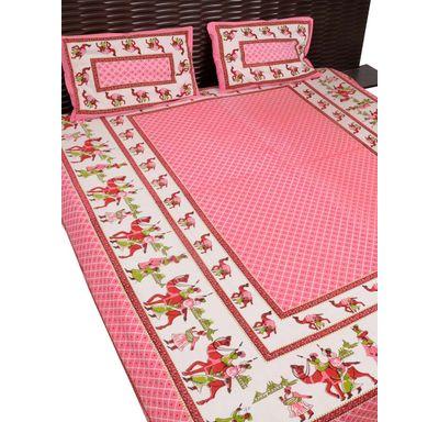 Camel print bed sheet