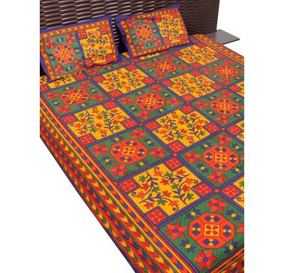 Traditional print bed sheet