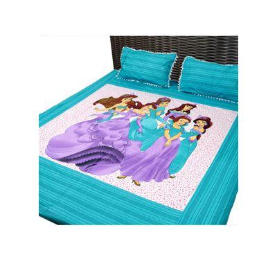 Bed sheet disney princess print