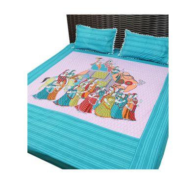 Bed sheet maharaja print