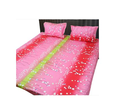 Bed sheet pink shade