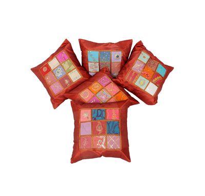 Silk antique cushion cover
