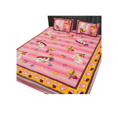 Bed sheet cartoon print