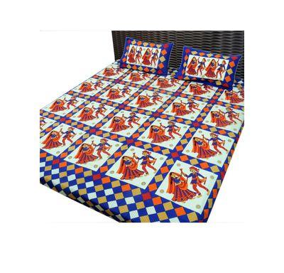Bed sheet dandiya print