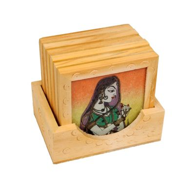 Tea coaster wooden
