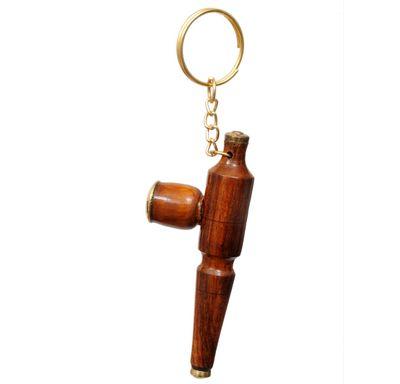 Key chain cigarette pipe