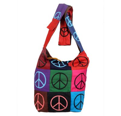 Hand bag peace sign tukadi