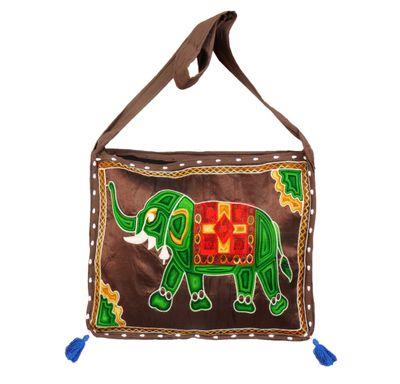Shoulder bag elephant embroidery