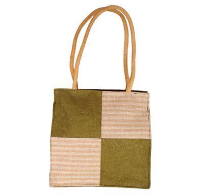 Square design jute bag