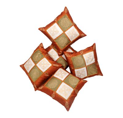 Poly gold cushion cover