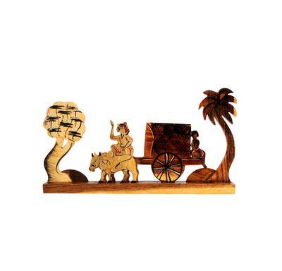 Bullock cart replica wooden