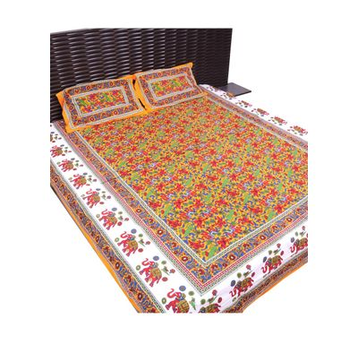 Bed sheet elephant print border