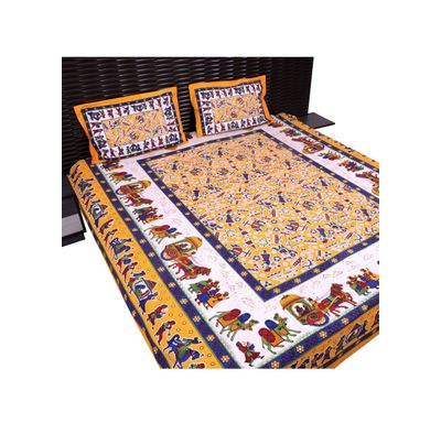 Bed sheet barat print
