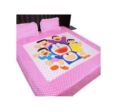 Bed sheet doraemon print