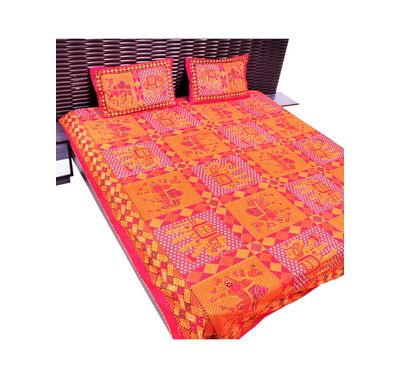 Bed sheet kantha work
