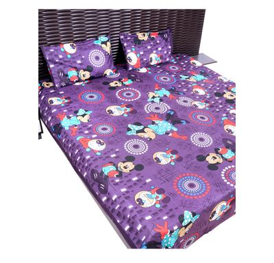 Bed sheet Mickey and Doraemon print