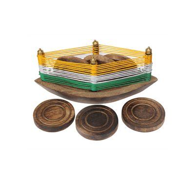 Wooden tea coaster (Boat shape)