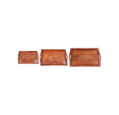 Combo of wooden serving tray