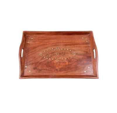 Wooden serving tray large