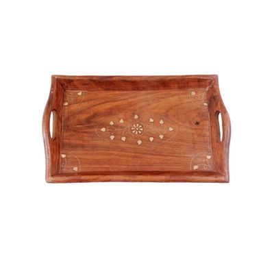 Wooden serving tray small