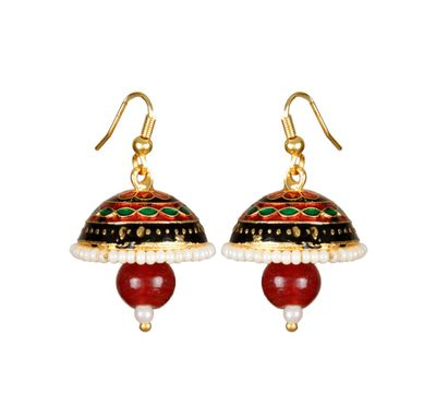 Ear ring Bell shape meenakari