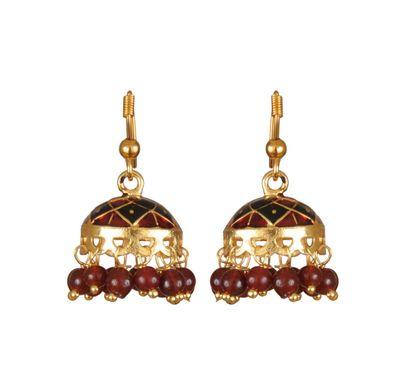 Ear ring meenakari small jhumka style