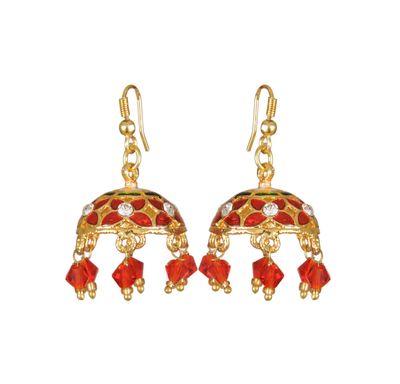Ear ring meenakari big jhumka style