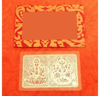 Sliver plated Laminated Lakshmi Ganesha